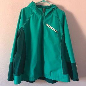 Turquoise Free Tech jacket
